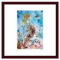 アートフレーム 【ゆうパケット】Atelier Flower Horizon ジグレー版画 Sea絵画 インテリア 壁掛け アート ポスター フック 海 ピカソ 額縁
