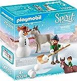 PLAYMOBIL DreamWorks Spirit 70398 Muñeco de Nieve con Trasqui y Señor Zanahoria, A Partir de 4 Años