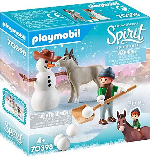 PLAYMOBIL DreamWorks Spirit 70398 Schneespaß mit Snips & Herrn Karotte, Ab 4 Jahren