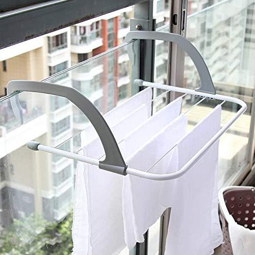 物干し台 物干しラック 洗濯物干し 伸縮 ベランダ 手すり バスタオルハンガー 窓枠物干し 引っ掛け式 梅雨対策