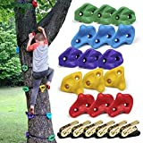 SSBRIGHT Tree Climbers, Set of 15 Climbing Holds/Steps for Kids' Outdoor Active...