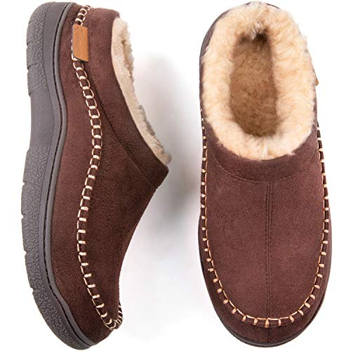 Our #4 Pick is the Zigzagger Fuzzy Microsuede Moccasin Men's Slippers