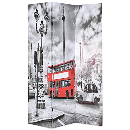 VidaXL Biombo Divisor Plegable 120x170 cm Bus Londres