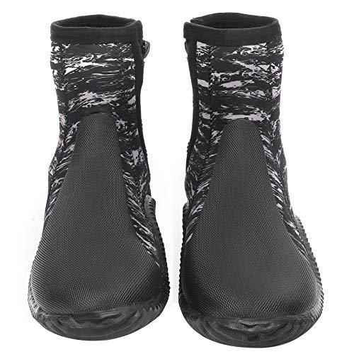 Zapato de buceo de neopreno Resistente Sho de buceo de 5 mm Zapato de esnórquel duradero Cómodo Tamaño 42 Ligero para buceo, natación, esnórquel