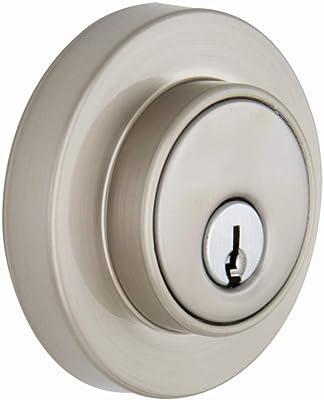 Brinks Push Pull Rotate Door Locks Amberhall Single Cylinder Deadbolt 23062-119 Satin Nickel