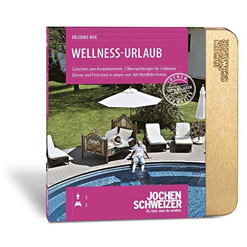 Jochen Schweizer Hotel-Gutschein 'Wellness-Urlaub für 2', mehr als 160 Hotels, 2 Übernachtungen für 2 Personen inkl. Frühstück und Abendessen, Wellness-Geschenk