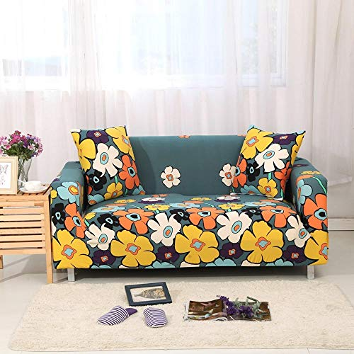 ASCV Funda de sofá elástica de algodón Funda de sofá Todo Incluido para Sala de Estar Funda elástica en Forma de L Sofá de Esquina A3 3 plazas