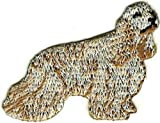 Embroidered Iron On Sew On Patch Cocker Spaniel Dog Great Quality Applique, 1.5' Tall x 2' Wide