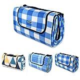 Schramm® Picknickdecke faltbar mit Tragegriff aus Fleece 2 x 2m Picknickdecken Outdoordecke...