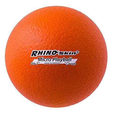 Champion Sports Rhino Skin Ballon de Football Taille M, RS5, 12,7 cm - Orange, 12,7 cm