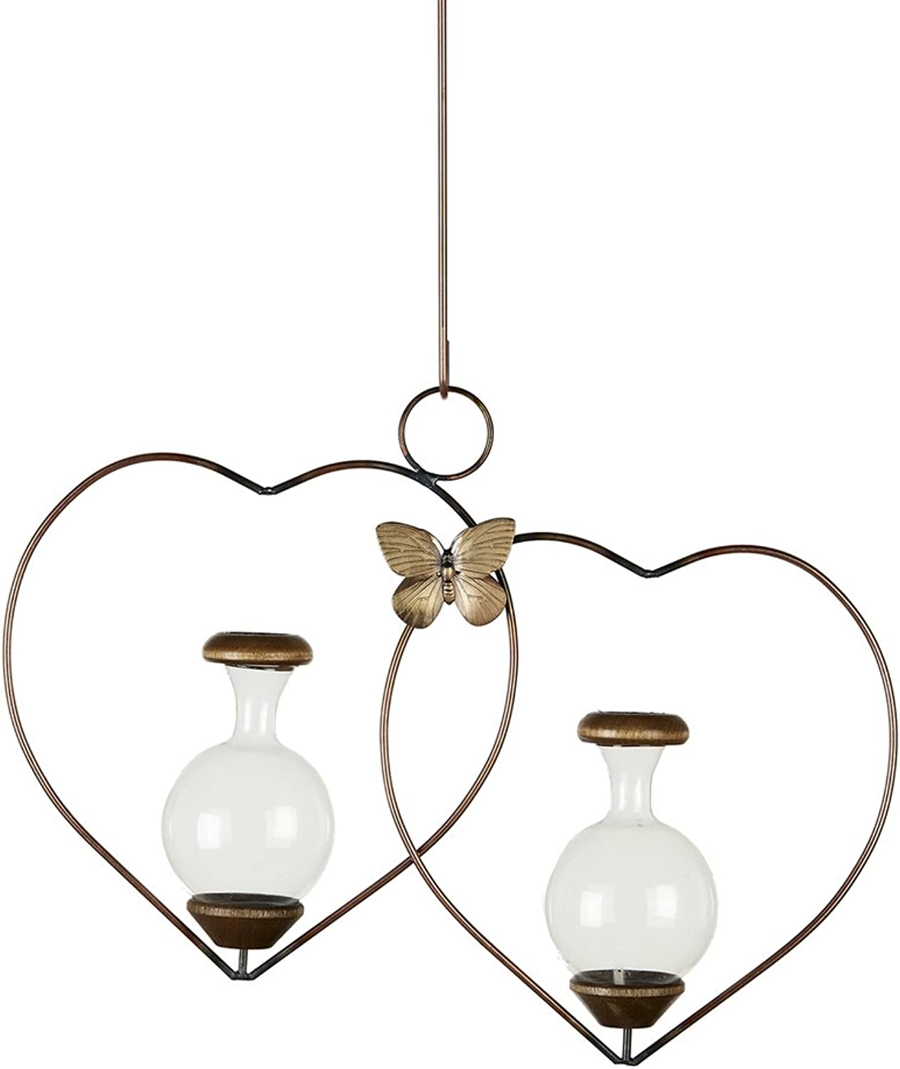 The Brass Butterfly Double Heart Rooter