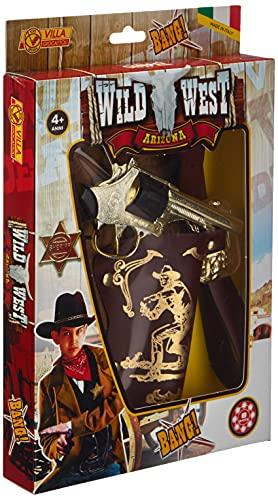 Villa Giocattoli ARIZONA COW-BOY - Cinturone max cm. 105 con pistola giocattolo in metallo 8 colpi