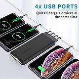 4-Port Powerbank 30000mAh LED Taschenlampe Externer Akku Mobiles Portable Ladegerät Die Powerbank kann Nicht nur Ihr Handy Aufladen sondern sie ist auch kompatibel mit Spielkonsole(Schwarz) - 3