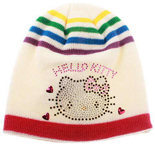 Bonnet multicouleur fille Hello kitty écru T54 (6/9ans)