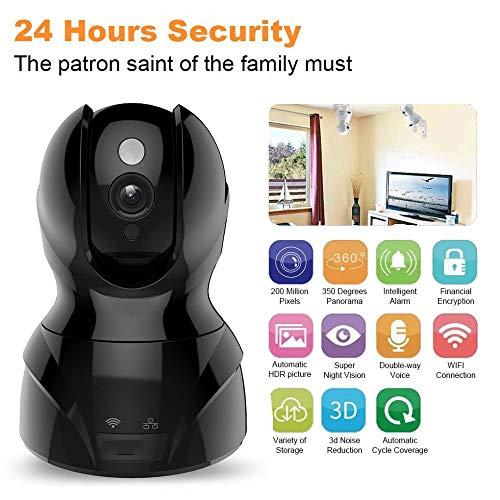 yjll Baby Monitor, 720P Draadloze IP Beveiliging Camera Twee Weg Audio Afstandsbediening Nachtzicht Bewegingsdetectie Voor Thuis/SHop/Kantoor