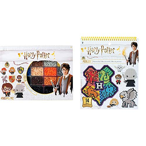 Perler Harry Potter Fuse Bead Kit, 4503pc, 19 Patterns, Multicolor & 80-22852 Beads Harry Potter Instruction Pad, 53 Patterns, Multicolor