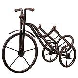 Feixunfan Estante de metal apilable para mesa de modelado de triciclo independiente, 1 soporte para botellas de vino, decoración para bodega, sótano (color: bronce, tamaño: 1 botella)