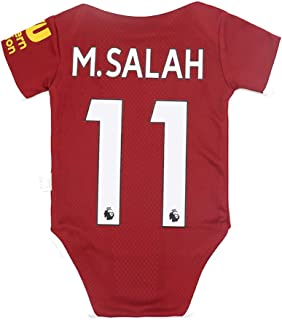 F.C Liverpool Bodysuit Home #11 Salah Baby Suit Soccer for Romper Infant & Toddler Two Size