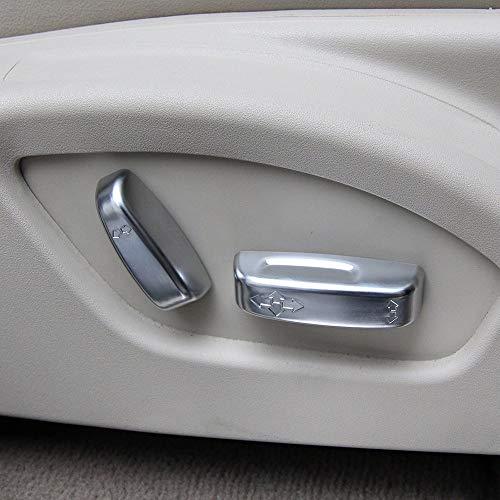 Accessoires de siège en Plastique ABS Bouton Couvercle Garniture Garniture Accessoires de Voiture Argent Mat pour XC60 V60 V40 S60 C30 C70