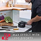 Knife Sharpener Electric 3-in-1 Tool - Sharpening Machine for Knives, Scissors, Screwdrivers - 2 Stage Multi-Angle Sharpen Kitchen Appliance Kit (Black)