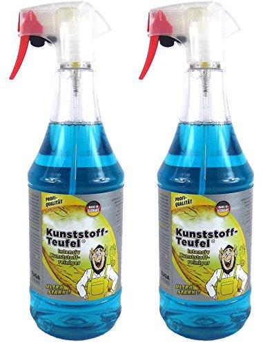 Tuga 2X Kunststoff-Teufel Universalreiniger Kunststoffreiniger Reiniger 1L Liter