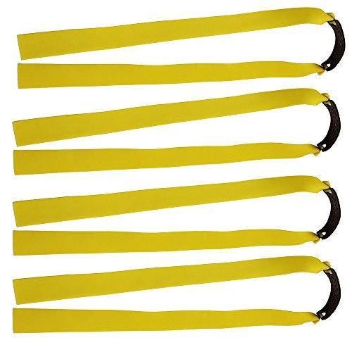 Mangobuy Ersatzband für Holzschleuder / Katapult / Jagdbänder, flach, elastisch, 10 Stück, gelb