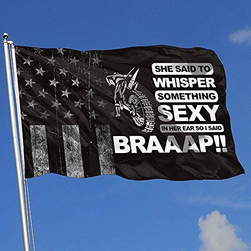 Elaine-Shop Worn-Out USA Cool Dirt Bike, Braaap 4 x 6 ft vlag voor thuis, decoratie, sport, fan, basketbal baseball hockey