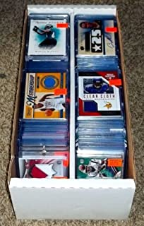 NFL Football Card Relic Game Used Jersey Autograph Hit Lot with 10 Relic Autograph or Jersey Cards Per Lot Perfect Party Favor or for NFL Collector or Fanatic Football Fan Every Lot is Unique