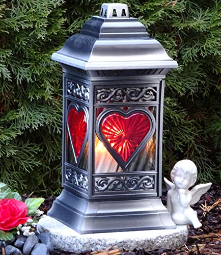 ♥ Graflantaarn graflamp 36,0 cm met grafkaars grafversiering graflicht graflicht lantaarn kaars lamp