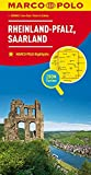 MARCO POLO Karte Deutschland Blatt 10 Rheinland-Pfalz, Saarland 1:200 000: Wegenkaart 1:200 000 (MARCO POLO Karten 1:200.000)