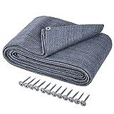 ONVAYA Alfombra para tienda de campaña | suelo para camping | alfombra de toldo para caravana | alfombra de tienda | alfombra robusta | base lavable para tienda de campaña en azul/gris (250 x 400 cm)