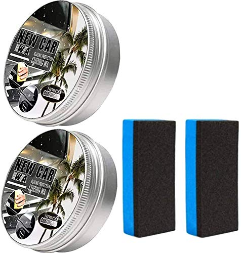 Pack of 2 new car coating wax, car anti-scratch wax, instant paint protection sealant glaze,...