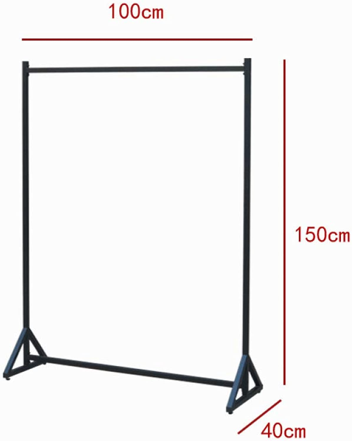 HHXD Clothing Store Creative Decoration Display Stand Floor-Standing Hanger Save Space and Strong Load Durable Black   100 x 40 x 150 cm