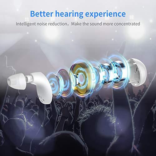 Auricolari wireless, True Wireless Bluetooth Earphones Avvio e accoppiamento automatici Deep Bass HiFi 5D Stereo Sound, microfono Bluetooth integrato Auricolari Box di ricarica portatile (Bianco)