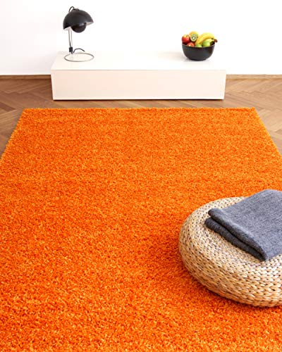 floor factory Alfombra Moderna Colors Naranja 200x290cm - Alfombra Shaggy al Precio súper económico