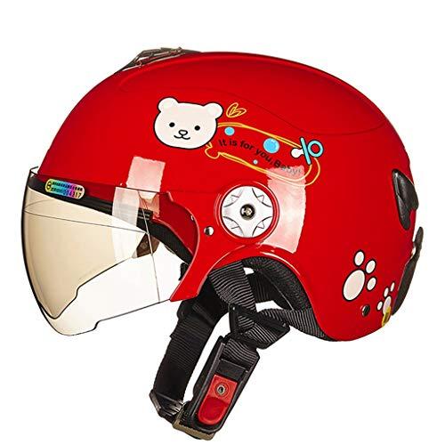 XiuXiu Casque pour Enfants Quatre Saisons Voiture électrique Cartoon Boy Girl Baby Portable Casque Parent-Enfant (Color : C, Taille : M)