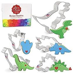 1. Ann Clark Cookie Cutters 5-Piece Dinosaur Cookie Cutter Set