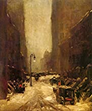 SNOW IN NEW YORK CITY WINTER STREET SCENE CARRIAGE 1902 AMERICAN PAINTING BY ROBERT HENRI LARGE CANVAS REPRO