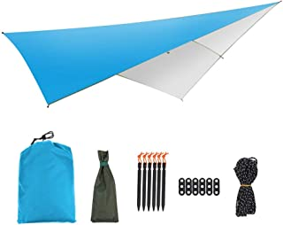 FeliciaJuan-sp Sun Shade Sail Easy Folding Multi-Function Outdoor Tent Sunshade Portable Hammock Rain Fly Waterproof Tent Tarp Camping Backpacking Tarp for Deck, Patio, Pergola, Backyard Outdoor