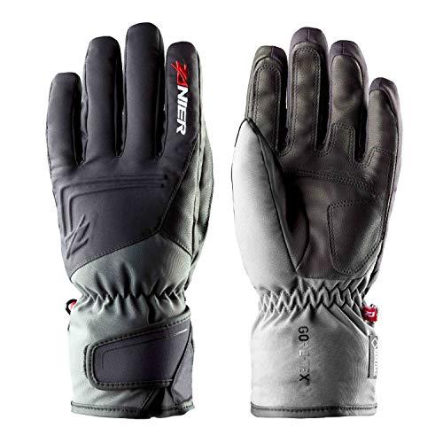 Zanier Kirchberg GTX Herren Ski-Handschuhe mit Gore-Tex Membran Wasserdicht, Größe:L, Farbe:Schwarz-Grau
