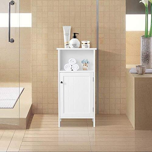 ZSH nachtkastjes nachtkastje met lades en eenheids deuren, verstelbare plank voor badkamerkast/wc-opslag/afwerkkast, witte kast