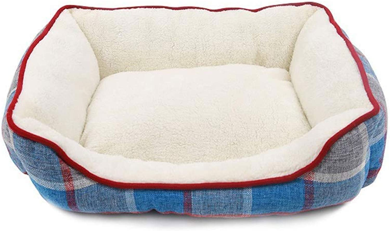 BHDYHM Pet Bed,Soft Pet Nest,Cat and Dog Cushion Bed,Dog Kennel,Dog Bed,Removable And Washable,Warm,Pet Supplies Four Seasons Universal Suitable For Pets (Size   L)