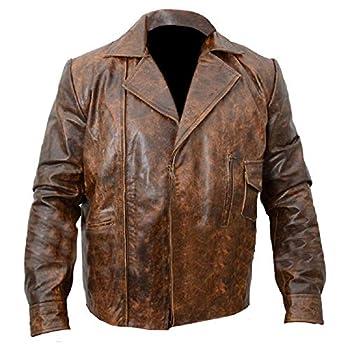 Retro Vintage Distressed Copper Escape from LA Kurt Russel Biker Real Leather Jacket  L