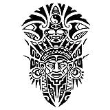 Tatuaje tribal Maori para hombre, tatuaje falso j519