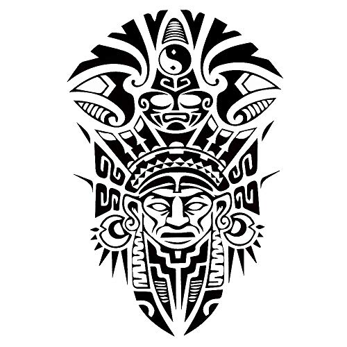 Tribal Tattoo Noir temporaire Arm Bras tatouage autocollants j519