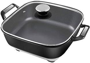 GZQDX Pot, 5.5L Grande capacité de Cuisson Pot électrique, Fondue Grill électrique, Mini poêle Anti-adhésive Multifonction...