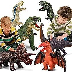 7. Gzsbaby Store Dinosaur Toys Set (6 Pieces)