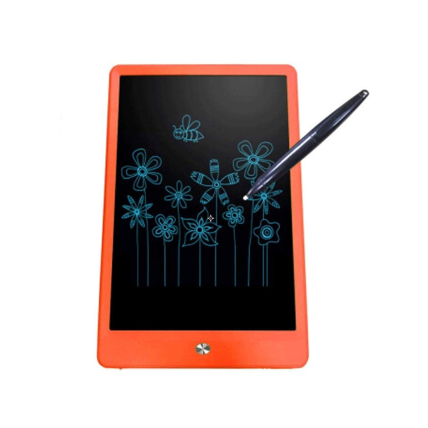 ゲインセイストローク勧める絵画 スクリーンLCD手書きボード子供用ライティングボード手描きボードライトエネルギー電子ボード10インチ 子供のための赤ちゃんのおもちゃ (Color : Orange)