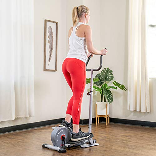 Product Image 20: Sunny Health & Fitness Magnetic Standing Elliptical with Handlebars – SF-E3988, Grey