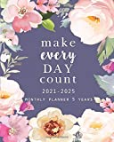 2021-2025 Monthly Planner 5 Years: Make Each Day Count: 60 Months Yearly Planner Monthly Calendar, Agenda Schedule Organizer and Appointment Notebook with Federal Holidays